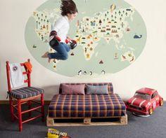 BB the countrybaby Blog: Ideas para decorar... MAPAS MUNDI: Un motivo de siempre