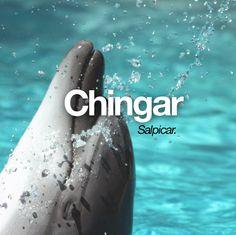"""Chingar: en Canarias, también """"mojar"""", """"salpicar"""" con agua a alguien."""
