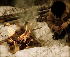 Can you build a fire to last all night? Did you know Giardia bacteria survive in ice?! Learn important skills for surviving cold weather #survivalskills #bugoutbag