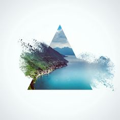 Triangles. #design#digitalart#landscape#geometry ✅✅✅