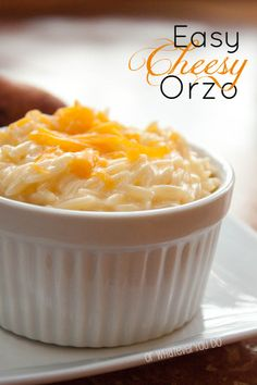 Easy Cheesy Orzo - Creamy goodness! (Made this tonight with Gouda. OMG! Fantastic!!- Bevy)