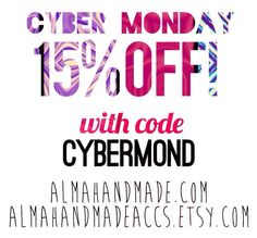 Handmade sale!!!! Go to  almahandmade.com and almahandmadeaccs.etsy.com; use the code CYBERMOND, and get 15% on all items. offer expires on 12/02/13 @ 12 am  #cybermondaysales #cybermonday #cyber #monday #sales #offers #coupon #handmade #handmadejewelry #jewelry #necklaces #bracelets #earrings #pearls #onlinestore #shopping #rings #semiprecious #hanukkah #gifts #presents #holidays #christmas #wish #wishlist
