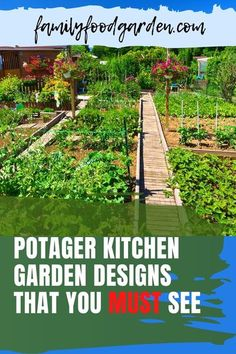 A garden located close to your kitchen is called a potager. It is designed to give you easy access to your homegrown fresh herbs and vegetables. Family Food & Garden has put together an easy to follow guide showing you all that you need for your potager. It will take a bit of time to plan and carefully layout a proper kitchen garden. With patience and diligence byn following our guide you will be very happy with the results of your efforts. #potagerplans #kitchengarden #potagerdesign Straw Bale Gardening, Container Gardening, Flower Gardening, Indoor Gardening, Vegetable Garden, Garden Plants, Healthy Fruits And Vegetables, Garden Design Plans, Garden Care