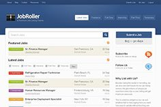 JobRoller is the most popular job board theme for WordPress. Our feature-rich application theme was built for ease-of-use and tight integration with WordPress so you'll be online, selling job listing space, and accepting new resumes within minutes.