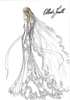 Wedding Dress Illustrations, Wedding Dress Sketches, Dress Design Sketches, Fashion Design Drawings, Fashion Sketches, Fashion Drawing Dresses, Fashion Illustration Dresses, Fashion Illustrations, Croquis Fashion