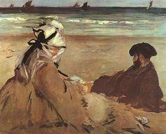 On the Beach, 1873 - Edouard Manet