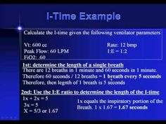 Respiratory Therapy Ventilator Calculations
