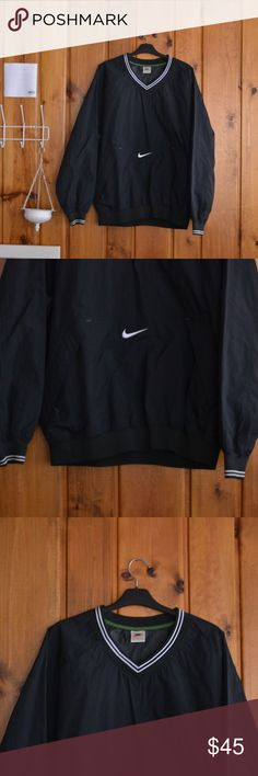 VTG Nike Windbreaker // L Perfect Vintage Nike Windbreaker Pullover   Stiffer material good for blocking wind  White piping   Basically unworn   True Men's size Large   Would fit steezy on a medium Nike Jackets & Coats Windbreakers