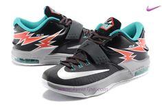 Nero/Bianco/Arancione KD-35 Nike KD 7 Uomo negozi online scarpe