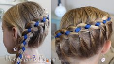 French Four Strand Braid with Ribbon How to Video Tutorial by Pretty Hair is Fun