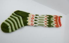Hand Knitted Christmas Stocking Hand Made with love