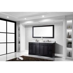 Virtu USA Talisa 72 in. Double Vanity in Espresso with Marble Vanity Top in Italian Carrara White-ED-25072-WMSQ-ES at The Home Depot
