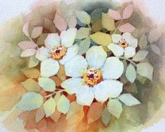 Negative watercolor painting creates images by painting only dark backgrounds…
