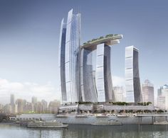 international firm safdie architects has announced its newest project, 'chongquin chaotianmen', a mixed-use complex   in chongquin, china, located at the meeting point between the yangtze and jialing rivers. the historically significant site   was the traditional chaotian gate where officials received imperial decrees from the emperors. to honor its previous use,   the center is divided into eight north-facing towers in the shape of sails upon the water,   a modern representation of a fleet…