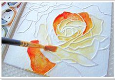 Watercolor embossing
