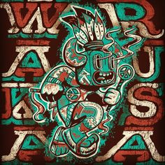 """""""Funky Cold Kachina"""" concept for Wakarusa merch #instaart #wakarusa #handdrawn #doodle #streetart #illustreeters #vector #graffiti #instadaily #type #typography #handtype #typography #character #navajo #nativeamerican #dinodraws #dance #music..."""