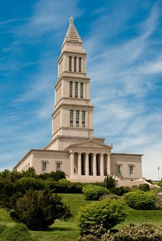 George Washington Masonic National Memorial, Alexandria, Virginia. It is dedicated to the memory of George Washington, the first President of the United States and a Mason. The tower is fashioned after the ancient Lighthouse of Alexandria in Egypt.