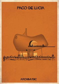 "ARCHIMUSIC: Illustrations Turn Music Into Architecture - Federico Babina / Paco de Lucia, ""Entre dos Aguas"""