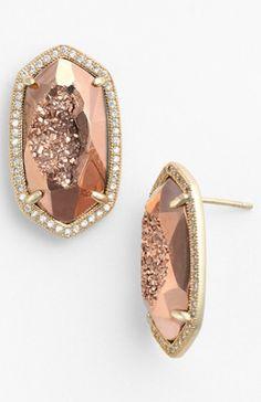beautiful dusty rose gold earrings - 50% off!