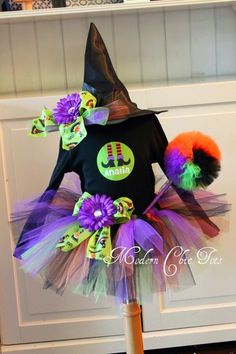 Witch tutu Halloween costume! I don't know if it's a girl yet but OMG this is adorable!! Had to pin!!