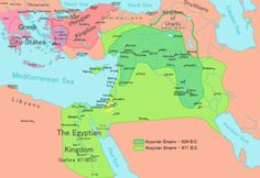 Map of the Neo-Assyrian Empire and its expansions, about 911-627 BC.