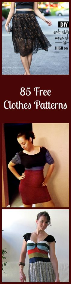 85 Free Clothes Patterns