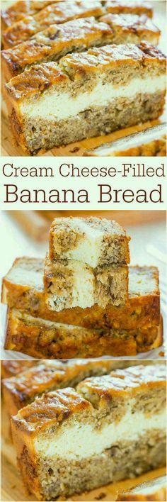 Cream Cheese Filled Banana Bread#Food&Drink#Trusper#Tip