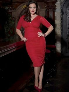 Plus size holiday dress
