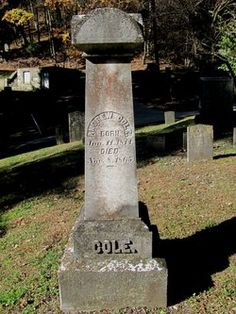 Andrew Cole family at Dingman's Ferry's Delaware Cemetery