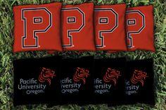 Cornhole Bag Logo Set - Pacific University Boxers 8815