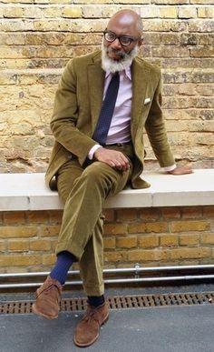 costume · Comment porter  blazer en velours côtelé olive e912751020e