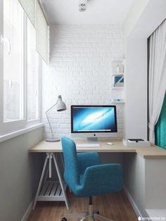 Кабинет на балконе, рабочее место на балконе фото