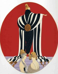 """Monaco"" by Erte - Art Deco Design Wikipaintings.org"