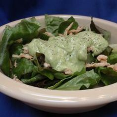 Cucumber-Avocado Salad Dressing Recipe.  If you are on the #candidadiet, this can be a staple!  Great as a salad dressing or a #dip for veggies!