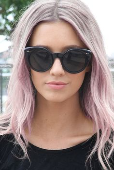Pastel hair. I somewhat like this...even though I'm not a huge fan of pink