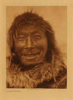 A Nunivak hunter,1928. Edward Sheriff Curtis Photography.