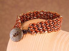 Seed bead jewelry Terracotta Dawn Bracelet ~ Seed Bead Tutorials Discovred by : Linda Linebaugh Seed Bead Bracelets, Seed Bead Jewelry, Beaded Jewelry, Handmade Jewelry, Jewellery, Artisan Jewelry, Jewelry Patterns, Bracelet Patterns, Bracelet Designs