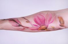 Magnolia tattoo by Amanda Wachob, who's work is some the most amazing tattoos I've ever seen.