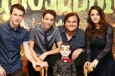 Slappy the Dummy, Jack Black, Dylan Minnette, Ryan Lee, Odeya Rush- Goosebumps Movie 2015