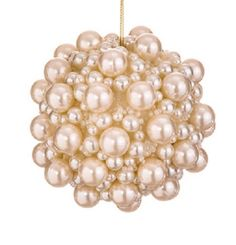 """4"""" Glamour Time Embellished Multi- Sized Pearl Decorative Christmas Ball Ornamen #Allstate"""