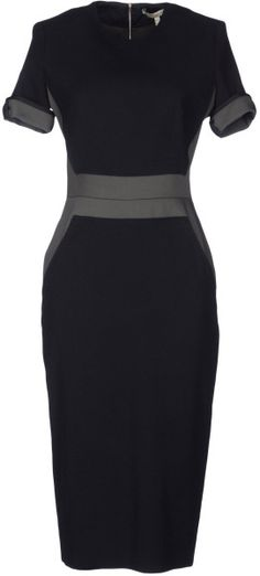 Victoria Beckham Knee Length Dress in Black - Lyst