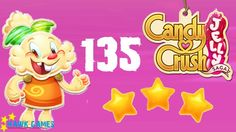 Candy Crush Jelly - 3 Stars Walkthrough Level 135 (Jelly mode)