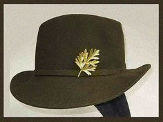 Take a HikeGreen Felt Fedora with Golden Leaf Accent by VdeB, $48.00