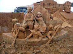 Superbes sculptures de sable