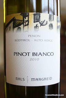 Nals Margreid Penon Pinot Bianco 2010 - Wines From Alto Adige Wine #1. $13, http://www.reversewinesnob.com/2012/07/nals-margreid-penon-pinot-bianco-2010.html