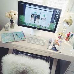 Mini Moments 01.15 « House of Harper  // desk inspiration - love that it is clean + minimal