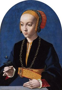 Portret van Elisabeth Bellinghausen Bartholomäus Bruyn (I), What's interesting on this is the mixture of typically renaissance and medieval features Portrait Renaissance, Costume Renaissance, Renaissance Kunst, Renaissance Paintings, Renaissance Fashion, Italian Renaissance, Jean Fouquet, Landsknecht, Medieval Art