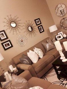 42 Beautiful Relaxing Brown And Tan Living Room Decoration Ideas Cream Living Rooms, Living Room Paint, My Living Room, Interior Design Living Room, Living Room Designs, Living Room Decor, Bedroom Decor, Cozy Living, Simple Living