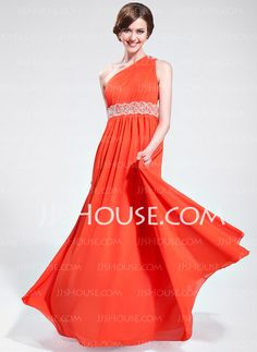 Prom Dresses - $152.99 - A-Line/Princess One-Shoulder Floor-Length Chiffon Prom Dress With Ruffle Beading (018025621) http://jjshouse.com/A-Line-Princess-One-Shoulder-Floor-Length-Chiffon-Prom-Dress-With-Ruffle-Beading-018025621-g25621