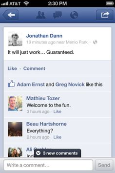 Facebook 5.0 - Now that the Facebook mobile team has decided to dump the slow web view approach in favor of a faster and slicker native UI, they've added some nice UX interactions as well. Things as simple as a new comment alert, comments and likes overlaid on photos, and a swipe-away photo dismissal make the app much more usable.